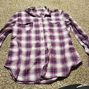 Girls Selena Gomez flannel long sleeve shirt
